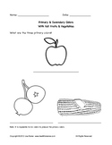 Primary and Secondary Colors Worksheet For Thanksgiving