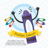 Primary and Secondary Colour Crayons