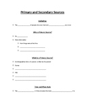 Primary and Secondary Source Cloze Note Guide