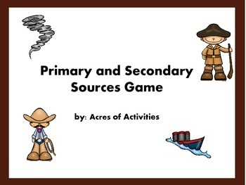 Primary and Secondary Source Game