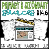 Primary and Secondary Source Mini Lesson