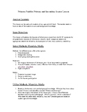 Primary and Secondary Source Lesson Plan