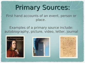 Primary and Secondary Source Power Point