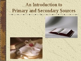 Primary and Secondary Source Powerpoint Presentation - Cor