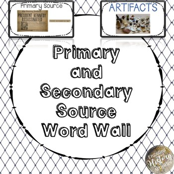 Primary and Secondary Source Word Wall