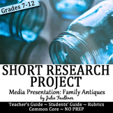 Antiques Show & Tell Common Core MLA Research Project -Featured Newsletter Item!
