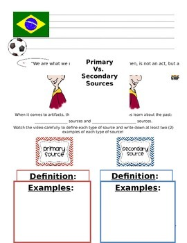 Primary and Secondary Sources Lesson