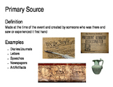 Primary and Secondary Sources Poster