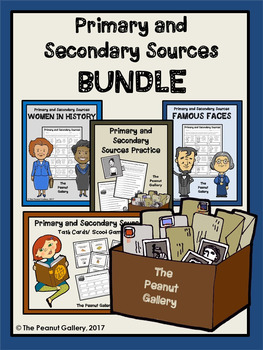 Primary and Secondary Sources Practice Bundle