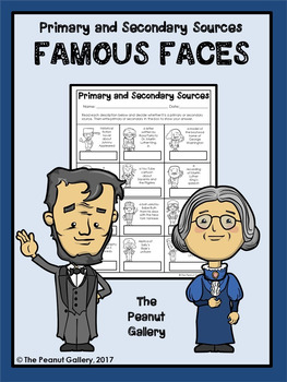Primary and Secondary Sources Practice: Famous Faces