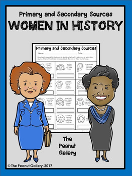Primary and Secondary Sources Practice: Women in History