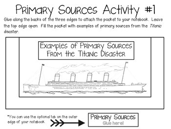 Primary and Secondary Sources ~ Social Studies Interactive Notebook Pack