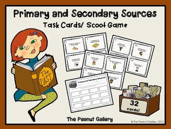 Primary and Secondary Sources: Task Cards/ Scoot Game