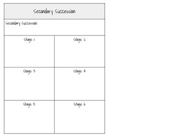 Primary and Secondary Succession Notebook Notes