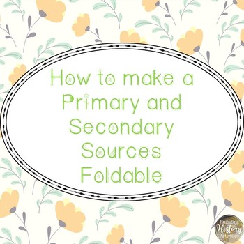 Primary and Secondary Vocabulary and Foldable PPT