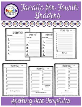 Primary and Upper Elementary Spelling Test Templates - 21 Templates!