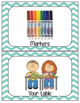 Primary color Art room material signs