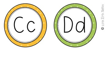 Primary colors Classroom Accents {banners, letters, & word wall headers}