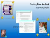 Primary grades peer feedback