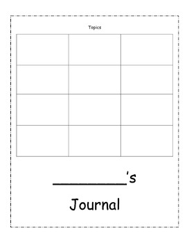 Primary journal with checklist