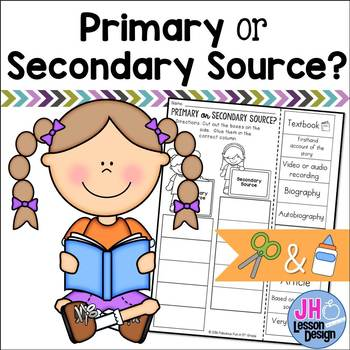 Primary or Secondary Source?  Cut and Paste Sorting Activity