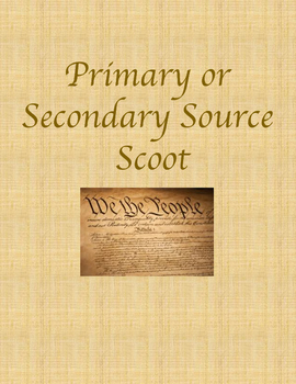 Primary or Secondary Source Scoot