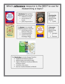 Reference resource materials