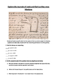 Primary source analysis: Journals of Lewis and Clark writi