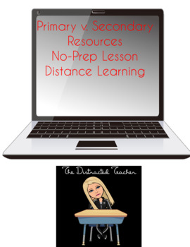 Primary v. Secondary Resources PowerPoint Activity
