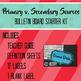 Primary v. Secondary Sources Bulletin Board Starter Kit