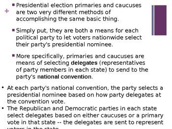 Primary vs. Caucus Powerpoint