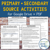 Primary and Secondary Sources Activities (for Google Drive + PDF)