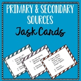 Primary and Secondary Source Task Cards in Color & Black/White