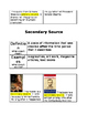 Primary vs secondary sources anchor charts