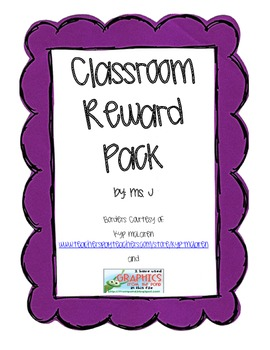 Primary/Elementary Classroom Reward Pack