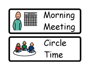 Primary/Junior Classroom Schedule Cards (set of 34)