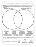 Virginia Studies Review Activities: VS.1 Primary/Secondary Sources