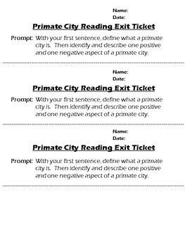 Primate City Lesson