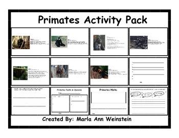 Primates Activity Pack