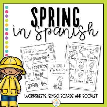 Primavera Booklets and worksheets (Spring in Spanish)