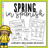 Spring in Spanish Worksheets and Bingo - La Primavera