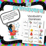 Primavera Domino Game - Spring Vocabulary Dominoes