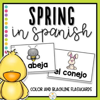Primavera Flashcards, Bingo and Memory Games  (Spring in Spanish)