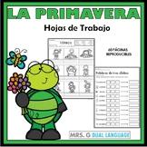 Primavera Hojas de trabajo. Spring Literacy Packet in Spanish