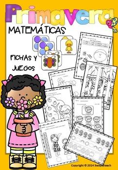 Primavera Matemáticas -Juegos y fichas-