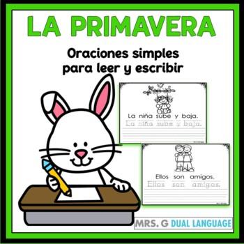 Primavera: Oraciones simples con palabras de uso frecuente | TpT