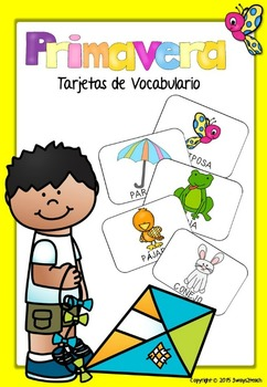 Primavera -Tarjetas de vocabulario-