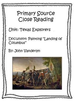 Primay Source Close Reading - The Landing of Columbus