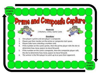 Prime & Composite Capture - 2-Player Game to Identify Prime & Composite Numbers