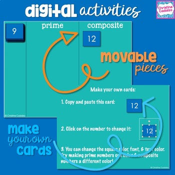 Prime & Composite Digital Lesson & Activities